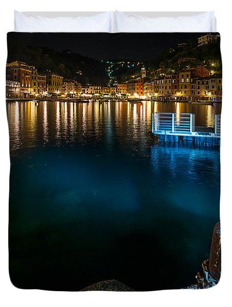 One Night In Portofino - Una Notte A Portofino Duvet Cover