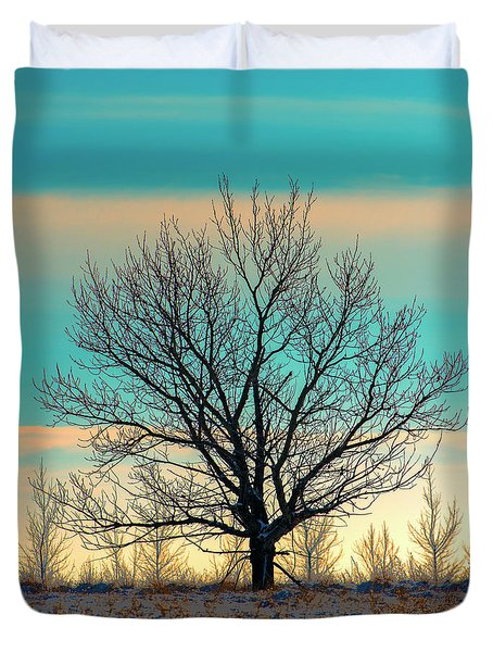 Duvet Cover featuring the photograph One by Nina Stavlund