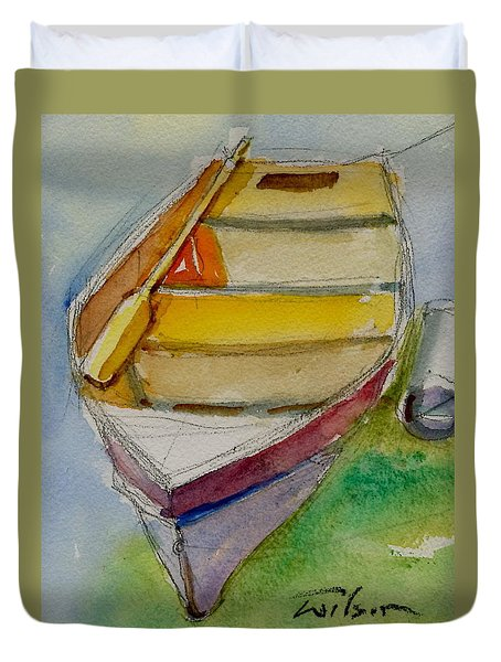 One Oar Gone Duvet Cover by Ron Wilson