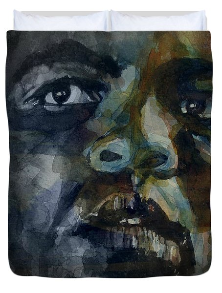 Duvet Cover featuring the painting One Of A Kind  by Paul Lovering