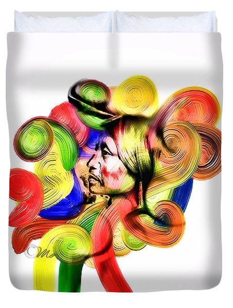 One Part 3 Duvet Cover by Mo T