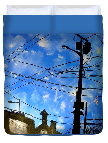 One Philly Sky Duvet Cover