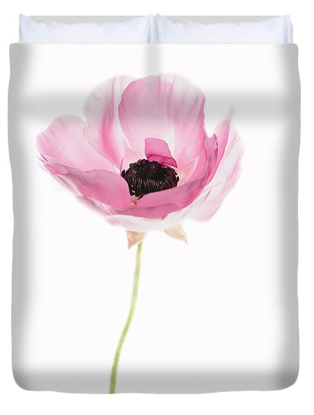 One Pink Beauty Duvet Cover by Rebecca Cozart
