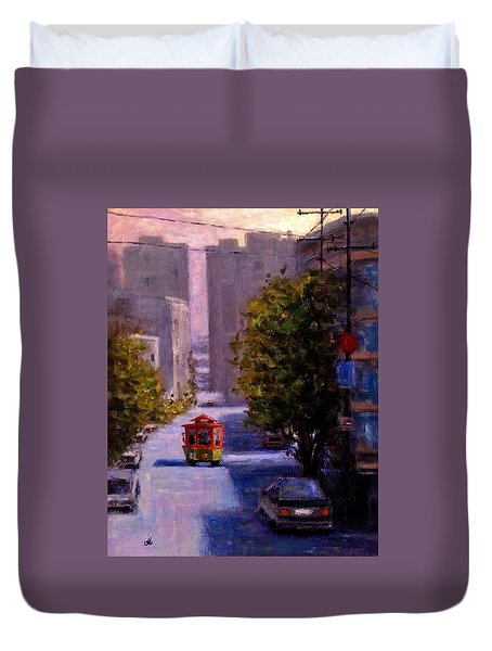 One Quiet Afternoon In San Francisco.. Duvet Cover