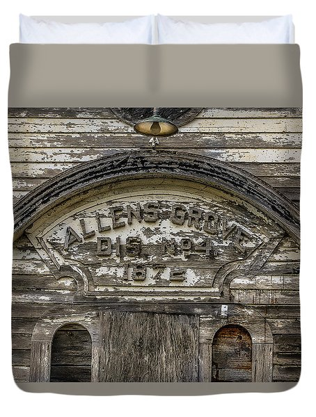 One Room School Duvet Cover by Ray Congrove