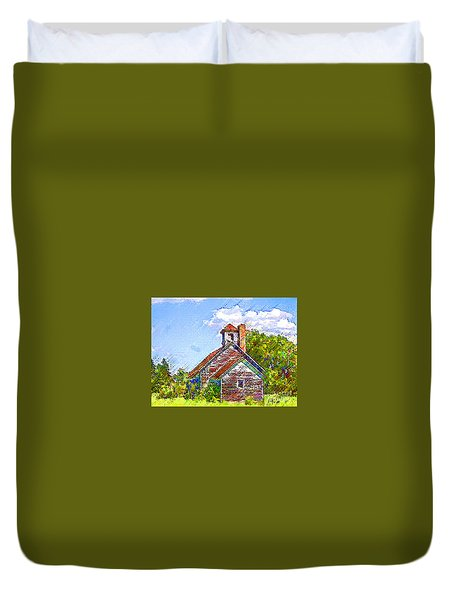 One Room Schoolhouse Duvet Cover