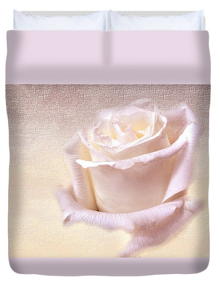 One Rose Is Enough For The Dawn Duvet Cover