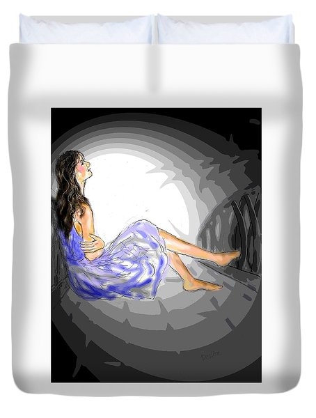 One Sided Dreams Duvet Cover