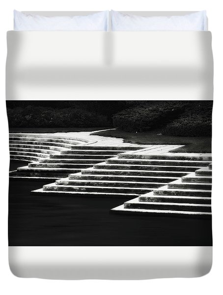 Duvet Cover featuring the photograph One Step At A Time by Eduard Moldoveanu