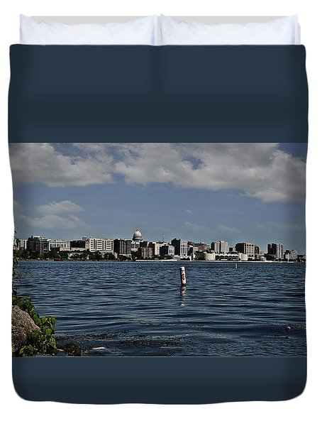 Duvet Cover featuring the photograph One Stitch At A Time by Deborah Klubertanz