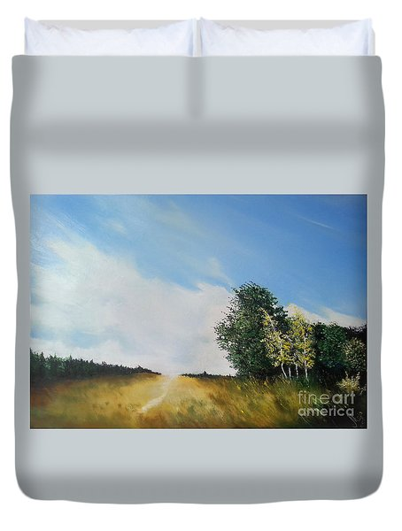 One Summers Day Oil Painting Duvet Cover