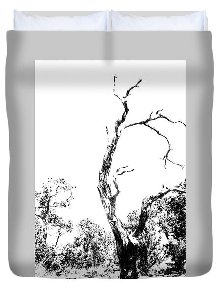 One Tree - 0192 Duvet Cover by G L Sarti