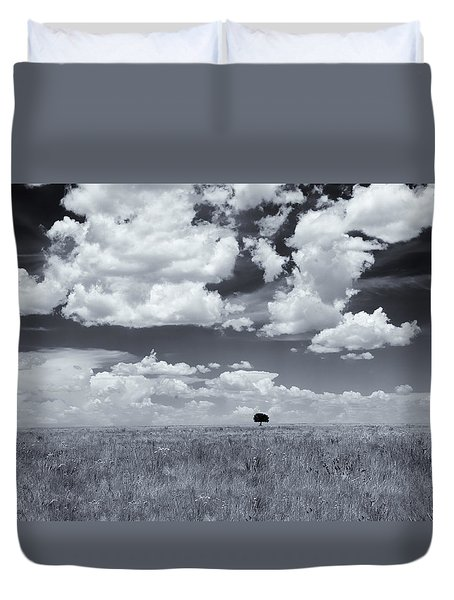 One Tree Duvet Cover by Carolyn Dalessandro