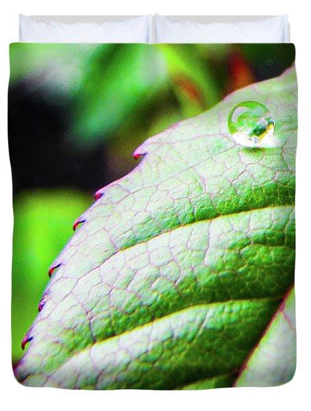 One Waterdrop Duvet Cover by Cesar Vieira