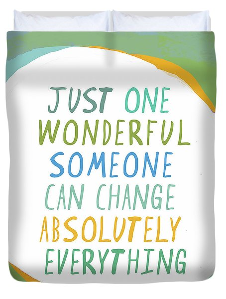 One Wonderful Someone Duvet Cover