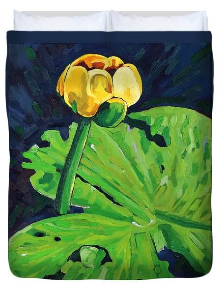 One Yellow Lily Duvet Cover