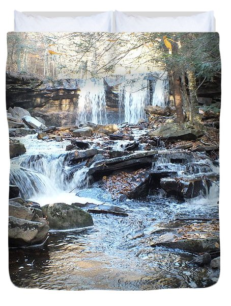Oneida Falls 3 - Ricketts Glen Duvet Cover