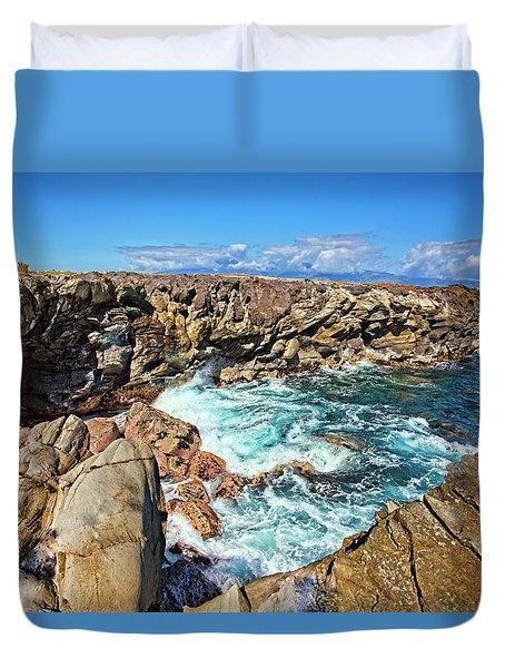 Oneloa-honokahua Bay Duvet Cover by Marcia Colelli