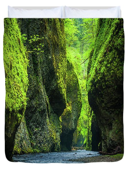 Oneonta Chasm Duvet Cover