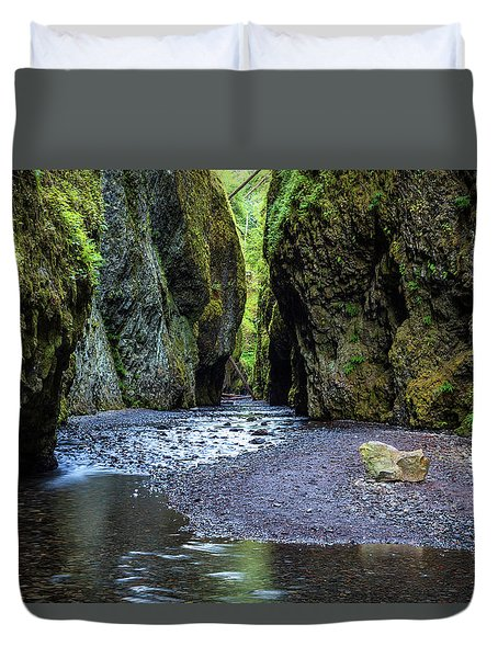 Duvet Cover featuring the photograph Oneonta Gorge by Pierre Leclerc Photography