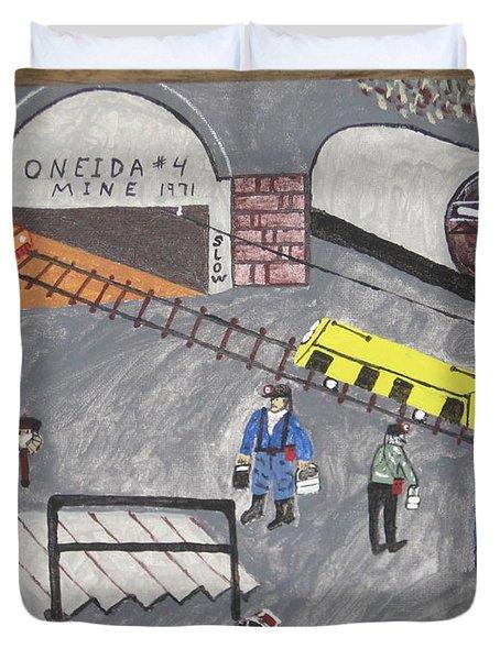 Onieda Coal Mine Duvet Cover