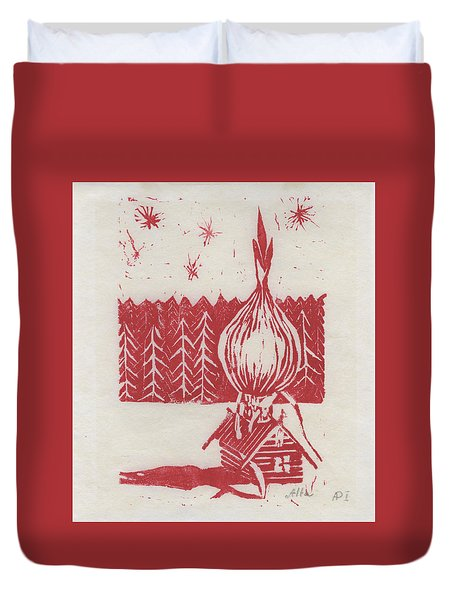 Onion Dome Duvet Cover by Alla Parsons
