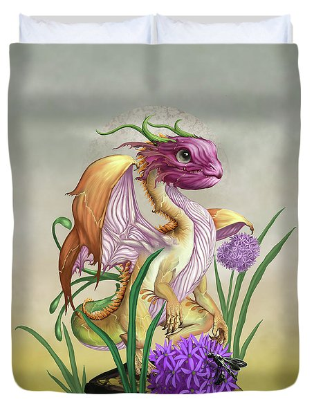 Duvet Cover featuring the digital art Onion Dragon by Stanley Morrison