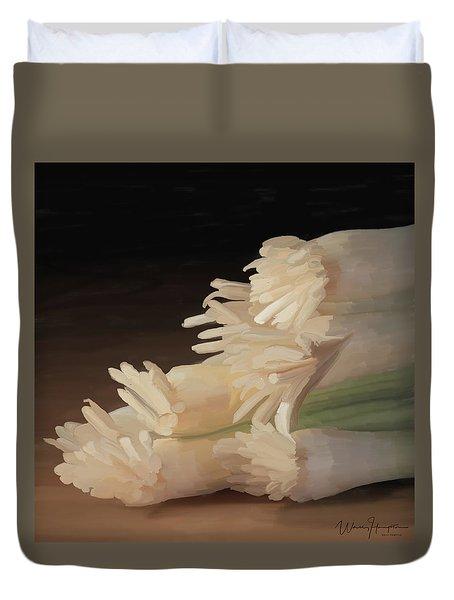 Onions 01 Duvet Cover by Wally Hampton