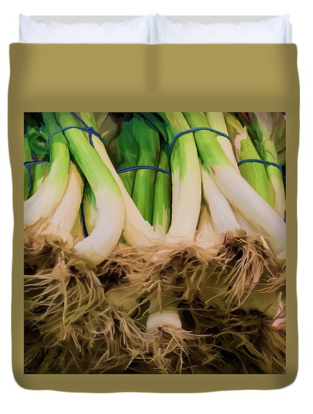 Onions 02 Duvet Cover by Wally Hampton