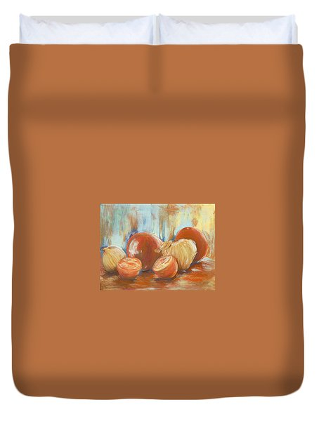 Onions And Tomatoes Duvet Cover