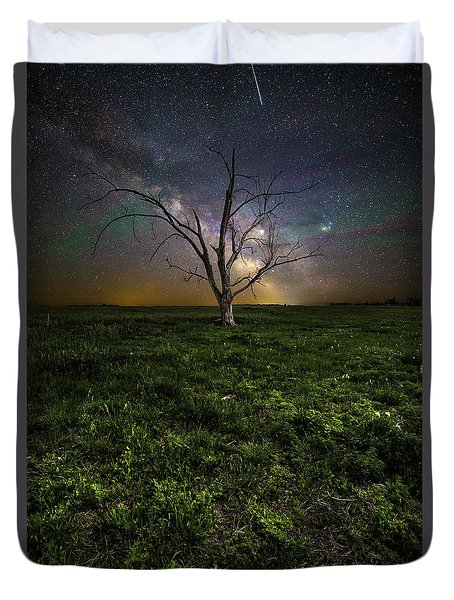 Duvet Cover featuring the photograph Only by Aaron J Groen