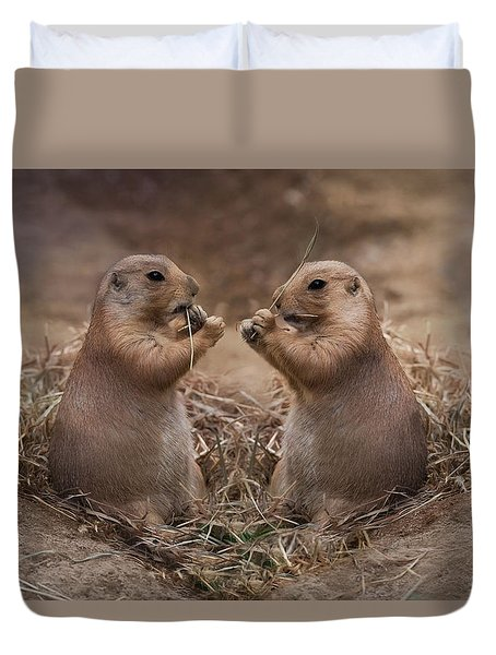 Duvet Cover featuring the photograph Only Hearts II by Robin-Lee Vieira