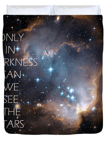 Only In Darkness Duvet Cover