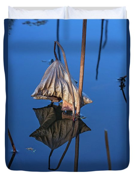 Duvet Cover featuring the photograph Only In Still Water by Linda Lees