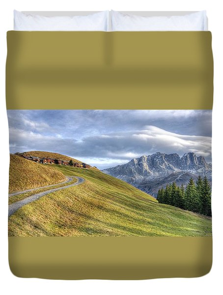 Only In The Swiss Alps Duvet Cover