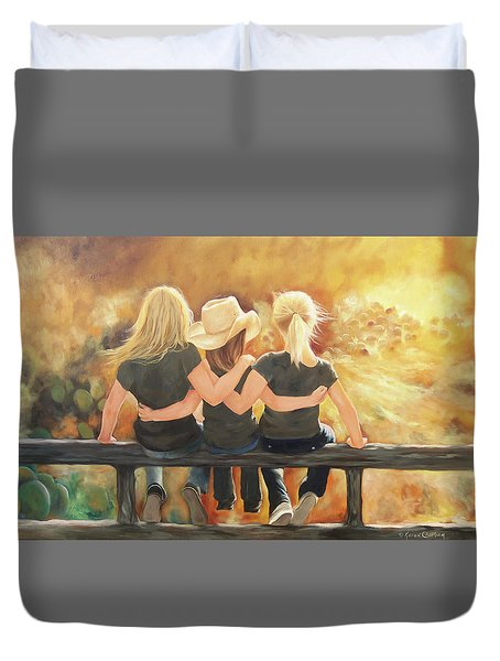 Only Sisters Know Duvet Cover