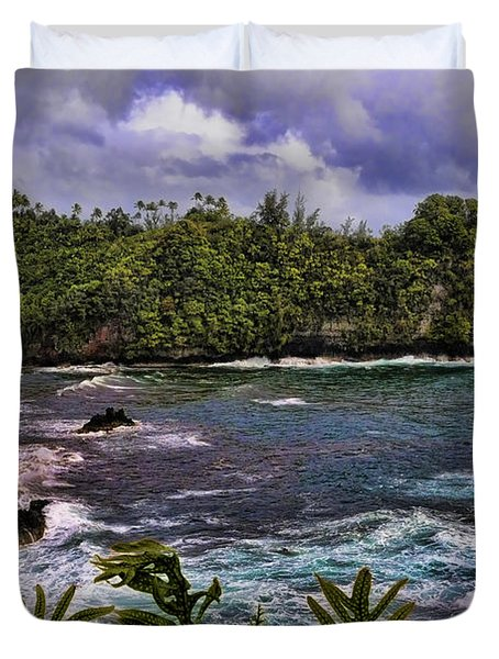 Onomea Bay Hawaii Duvet Cover