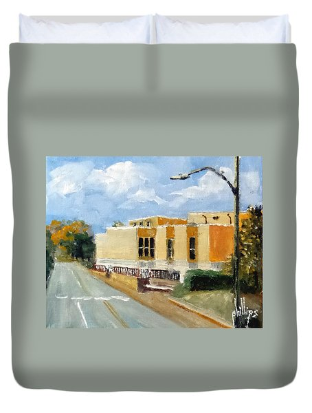 Onslow New Courthouse Duvet Cover