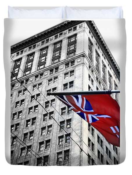 Ontario Flag Duvet Cover