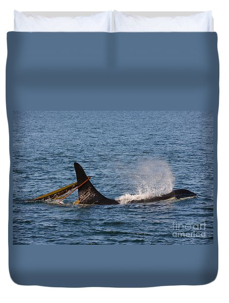 Onyx L87 Duvet Cover by Gayle Swigart