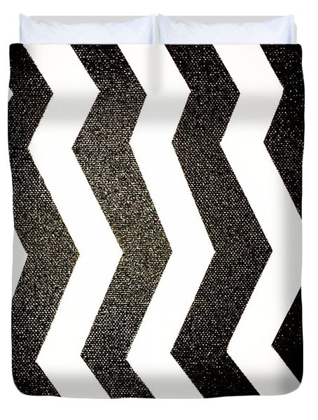 Duvet Cover featuring the mixed media Op Art by Janelle Dey