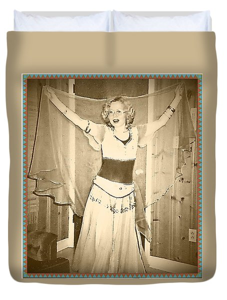 Duvet Cover featuring the photograph OPA by Denise Fulmer