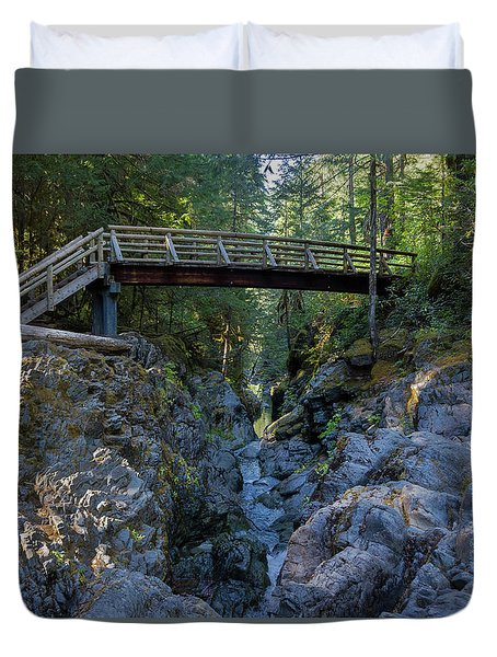 Opal Creek Bridge Duvet Cover