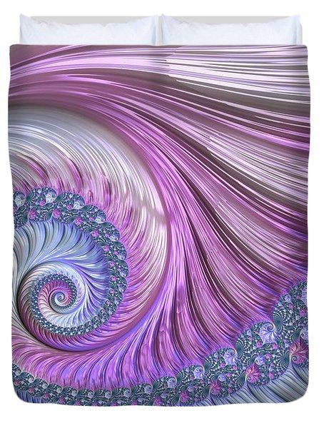 Opal Nautilus Duvet Cover by Susan Maxwell Schmidt