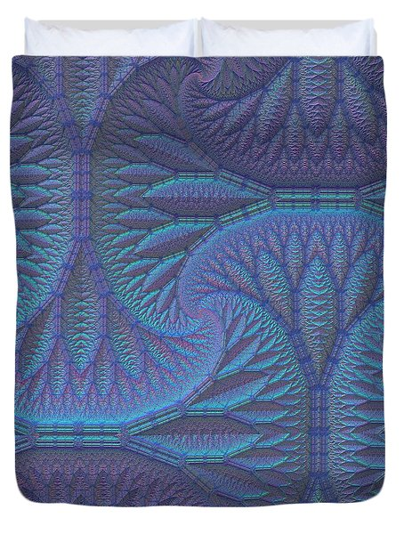 Duvet Cover featuring the digital art Opalescence by Lyle Hatch