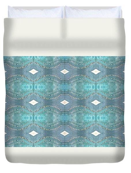 Opalescent Wave Design Duvet Cover