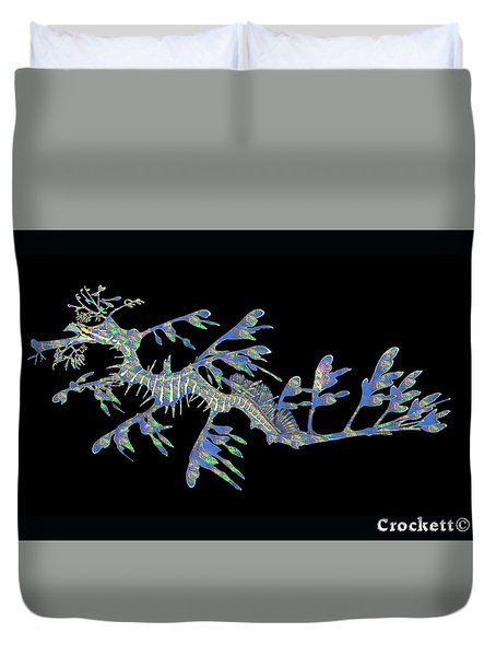 Opalised Sea Dragon Duvet Cover
