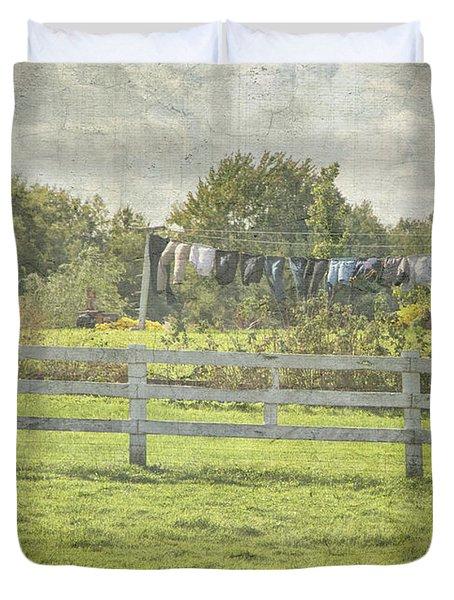 Open Air Clothes Dryer Duvet Cover