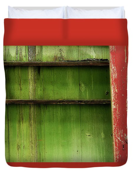 Duvet Cover featuring the photograph Open Door by Mike Eingle
