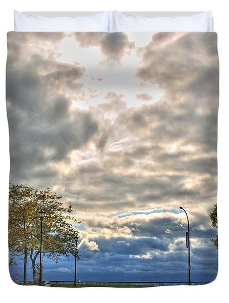 Open Heavens  Duvet Cover by Michael Frank Jr